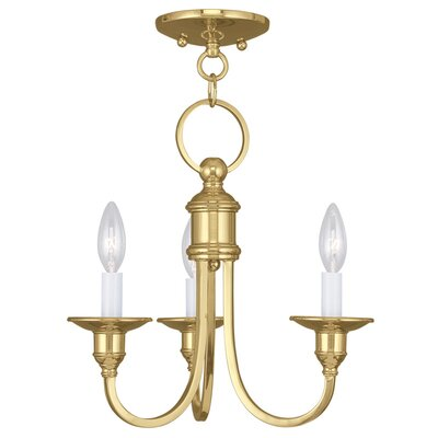 Eckard 3-Light Candle-Style Chandelier Finish: Polished Brass
