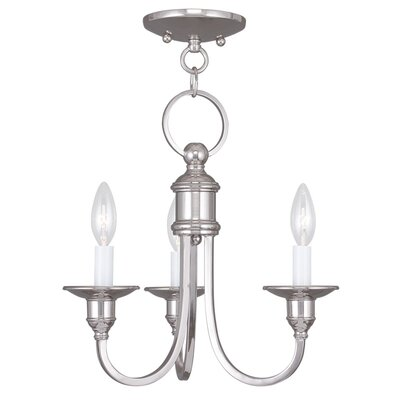 Eckard 3-Light Candle-Style Chandelier Finish: Polished Nickel