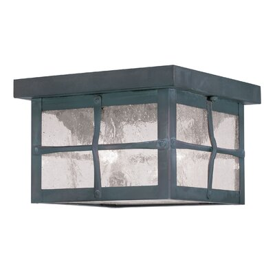 Cantero 2-Light Flush Mount Finish: Hammered Charcoal, Size: 5 H x 7.5 W x 7.5 D