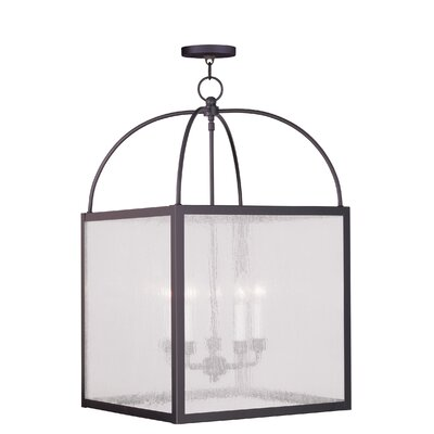 Brundidge 5-Light Foyer Pendant Glass Type: Seeded Glass