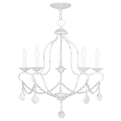 Kendrick 5-Light Candle-Style Chandelier Finish: Antique White