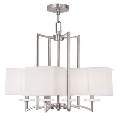 Amenia 4-Light Shaded Chandelier Finish: Brushed Nickel