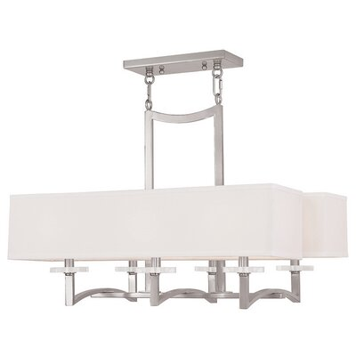 Amenia 6-Light Kitchen Island Pendant Finish: Brushed Nickel