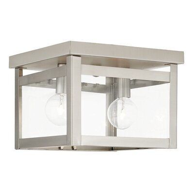Brundidge 2-Light 40W Flush Mount