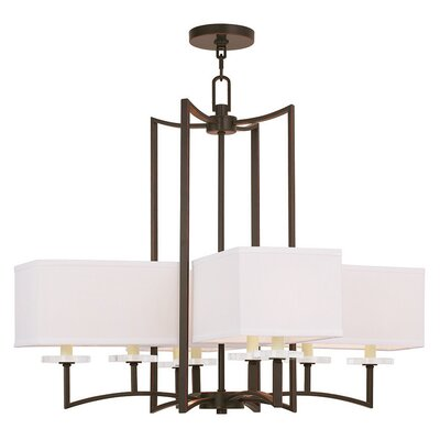 Amenia 8-Light Shaded Chandelier Finish: Olde Bronze