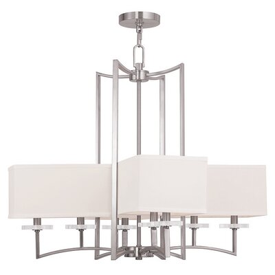 Woodland Park 8-Light Shaded Chandelier Finish: Brushed Nickel
