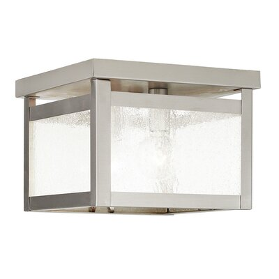 Brundidge Traditional 2-Light Flush Mount Finish: Brushed Nickel