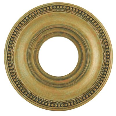 Wingate Ceiling Medallion Size: 2 H, Finish: Hand Painted Antique Gold Leaf