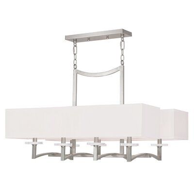 Woodlan Park 8-Light Kitchen Island Pendant Finish: Brushed Nickel