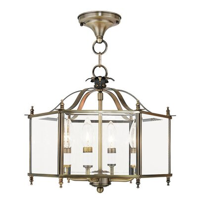 Claysburg 4-Light Semi Flush Mount Finish: Antique Brass