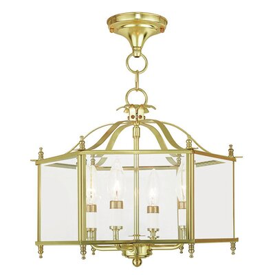 Claysburg 4-Light Semi Flush Mount Finish: Polished Brass