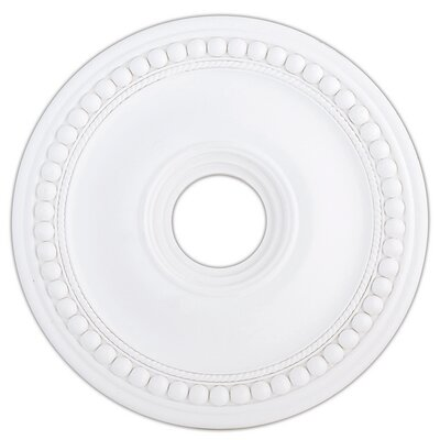 Wingate Ceiling Medallion Size: 2.5 H, Finish: White