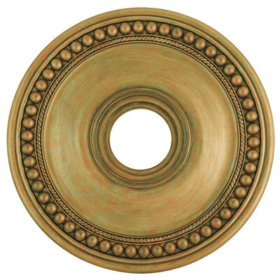 Wingate Ceiling Medallion Size: 2.5 H, Finish: Hand Painted Antique Gold Leaf