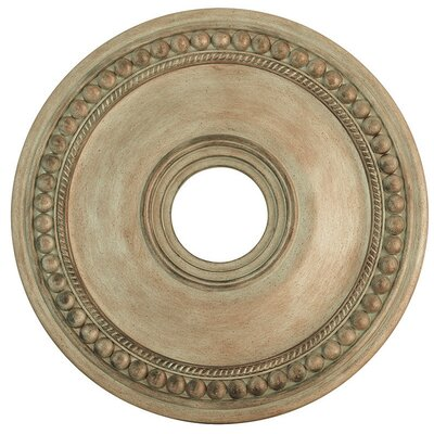 Wingate Ceiling Medallion Finish: Hand Painted Antique Silver Leaf, Size: 1.5 H
