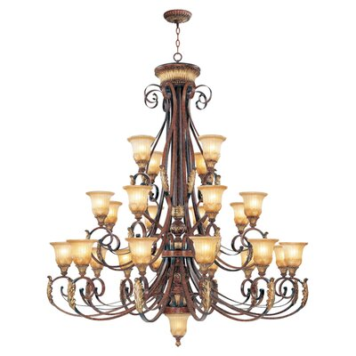 Scottdale 25-Light Shaded Chandelier