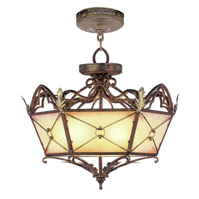 Bradner Convertible Pendant in Palacial Bronze with Gilded Accents Size: 19.5 H x 20.75 W x 20.75 D