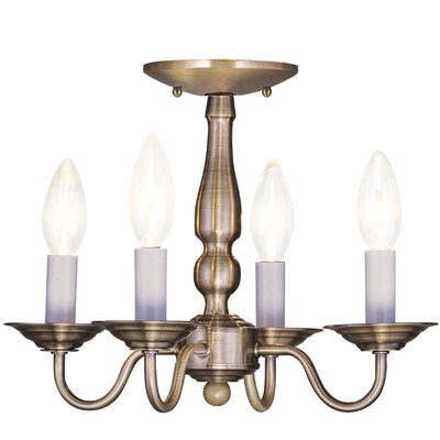 Allensby 4-Light Candle-Style Chandelier Finish: Antique Brass