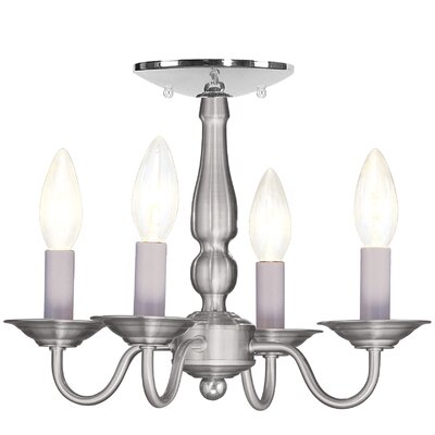Allensby 4-Light Candle-Style Chandelier Finish: Brushed Nickel