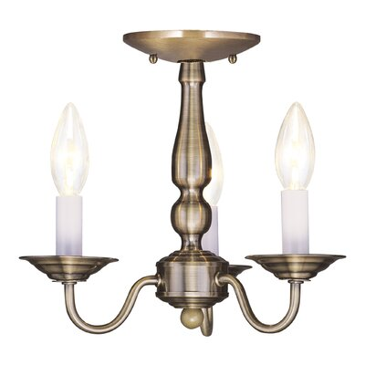 Allensby 3-Light Candle-Style Chandelier Finish: Antique Brass