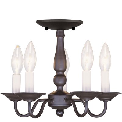 Allensby 5-Light Candle-Style Chandelier Finish: Bronze