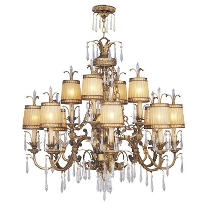 Perot 12-Light Shaded Chandelier