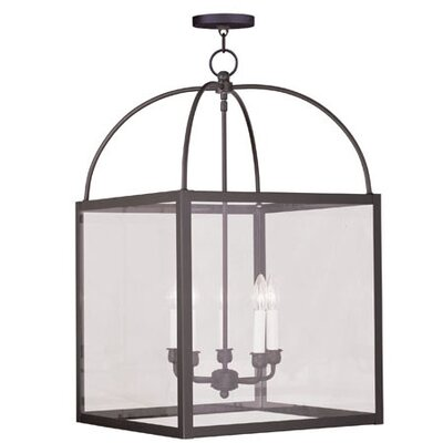 Milford 5-Light Foyer Pendant Glass Type: Clear Glass