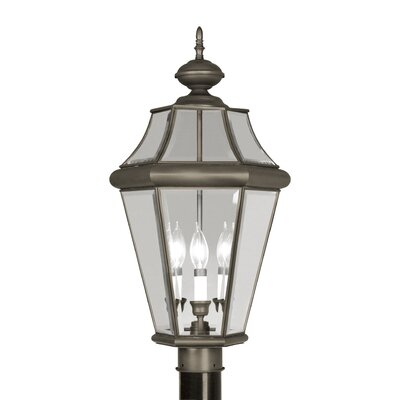 "Livex Lighting Georgetown  Outdoor Post Lantern in Bronze - Size: 23.25"" H x 13"" W x 13"" D at Sears.com"
