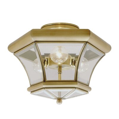 Fairfield 3-Light Semi Flush Mount Finish: Antique Brass