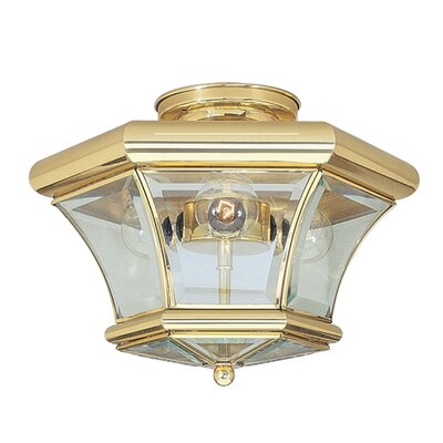 Wilcoxon 3-Light Semi Flush Mount Finish: Polished Brass