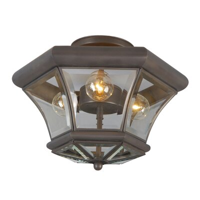 Fairfield 3-Light Semi Flush Mount Finish: Bronze
