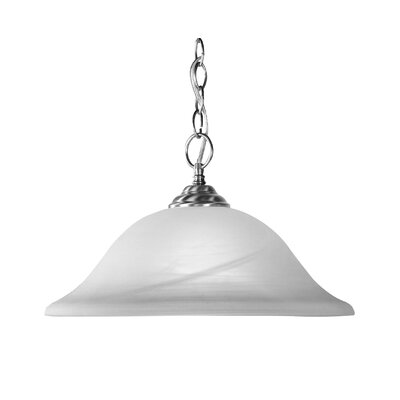 1-Light Pendant Size: Small, Finish: Brushed Nickel