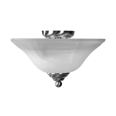 Wiedeman 2-Light Flush Mount Finish: Brushed Nickel