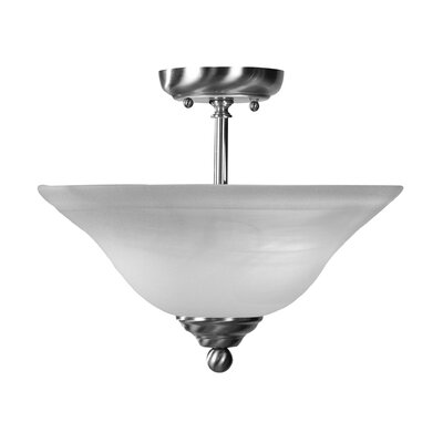 10.5 2-Light Semi Flush Mount