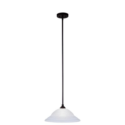 North Port 1-Light Mini Pendant Size: 53 H x 16 W x 16 D, Finish: Black