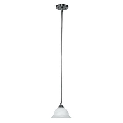North Port 1-Light Mini Pendant Size: 46 H x 8.25 W x 8.25 D, Finish: Brushed Nickel