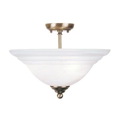 Brunette 3-Light Semi Flush Mount Finish: Antique Brass