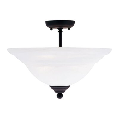 Brunette 3-Light Semi Flush Mount Finish: Black