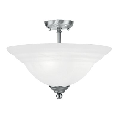 Brunette 3-Light Semi Flush Mount Finish: Brushed Nickel