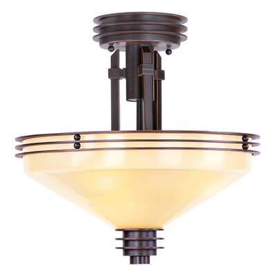 Lucah 3-Light Semi Flush Mount Finish: Olde Bronze
