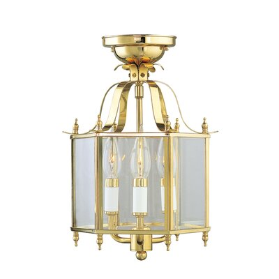 Claysburg 3-Light Convertible Foyer Pendant Finish: Polished Brass