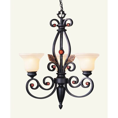 Browns 3-Light Shaded Chandelier