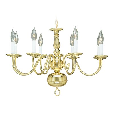 Allensby 8-Light Candle-Style Chandelier Finish: Polished Brass