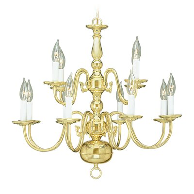 Allensby 12-Light Polished Brass Candle-Style Chandelier