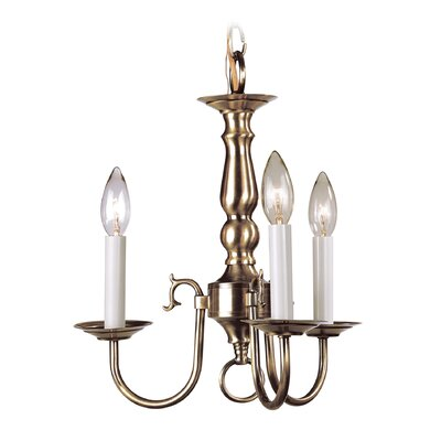 Williamsburgh 3-Light Candle-Style Chandelier