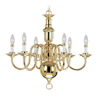 Perrone 6-Light Candle-Style Chandelier