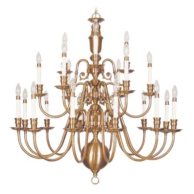 Beacon Hill 21-Light Candle-Style Chandelier