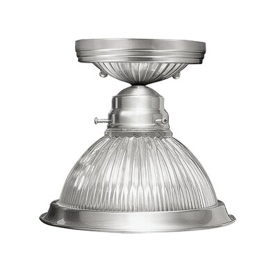 Lauritsen 1-Light Flush Mount Finish: Brushed Nickel
