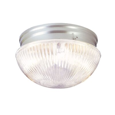 Wesley 1-Light Flush Mount Size: 4.75 H x 7.5 W x 7.5 D, Finish: Polished Brass