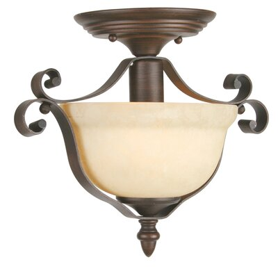 Manchester 1-Light Semi Flush Mount