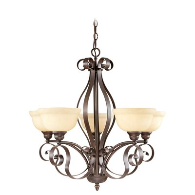 Brew Kettle 5-Light Shaded Chandelier